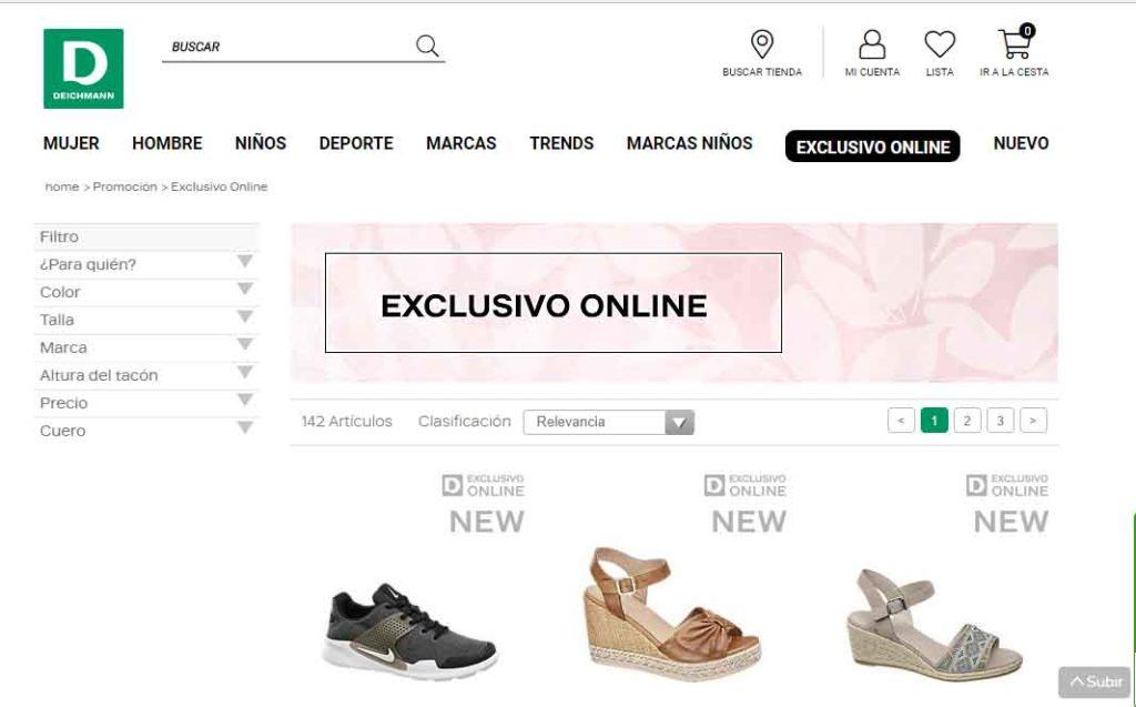 98464b80a87 Tienen un apartado en la web donde hay productos que están solo en la  página web